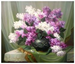 Picturi cu flori ELEGANTA IN CATIFEA