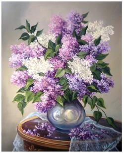 Picturi cu flori ELEGANTA IN LILA