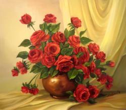 Picturi cu flori ETERNII INDRAGOSTITI