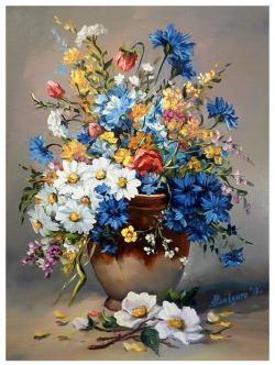 Picturi cu flori FLORI DE  CIMP