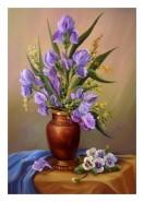 Picturi cu flori Flori de irisi