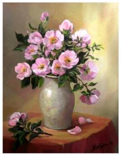Picturi cu flori FLORI DE MACIES