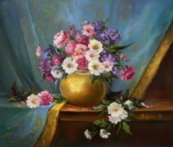 Picturi cu flori FLORI SI CATIFEA