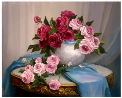 Picturi cu flori FLORILE BUCURIEI