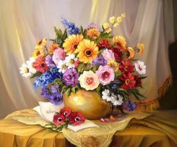 Picturi cu flori FLORILE SAREI