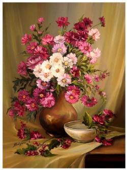 Picturi cu flori GLASTRA CU AMINTIRI