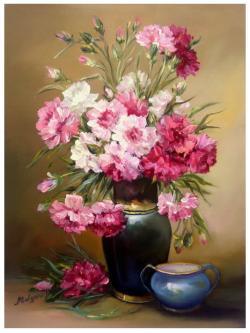 Picturi cu flori GRATIE IN ROZ