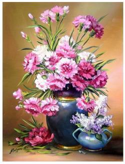 Picturi cu flori GRATIE IN ROZ (2)