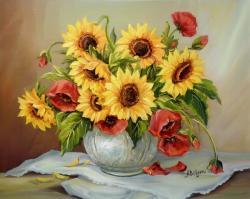 Picturi cu flori IN DUET(2)