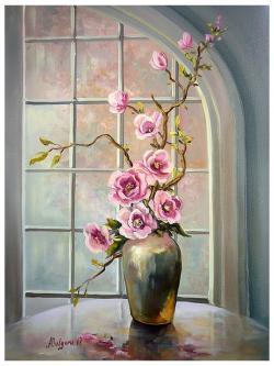 Picturi cu flori MAGNOLII INFLORITE