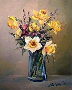 Picturi cu flori MARTISOR CU NARCISE