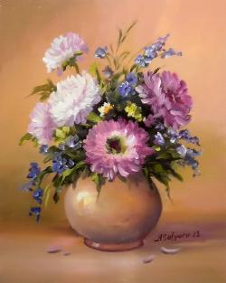 Picturi cu flori MIC  POEM DE TOAMNA