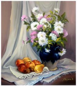 Picturi cu flori NATURA STATICA CU MERE (2)
