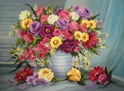 Picturi cu flori O EXPLOZIE FLORALA