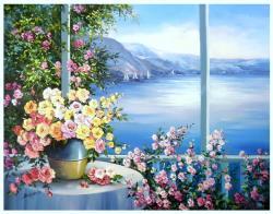 Picturi cu flori O MARE CU FLORI