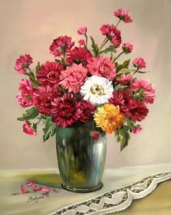 Picturi cu flori PARFUM DE CRIZANTEME