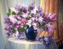 Picturi cu flori PARFUM VIOLET (2)