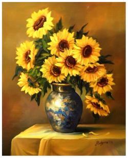 Picturi cu flori PETALE DE SOARE