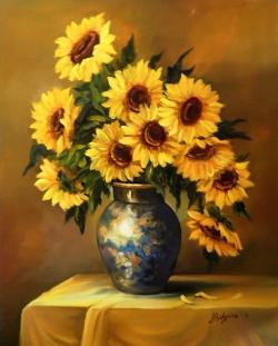 Picturi cu flori PETALE DE SOARE (2)