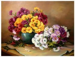 Picturi cu flori PETALE DE TOAMNA (2)