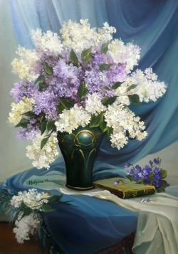 Picturi cu flori POEM CU FLORI DE LILIAC