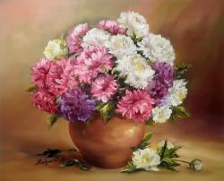 Picturi cu flori POEM DE TOAMNA ROZ