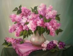 Picturi cu flori Poem roz