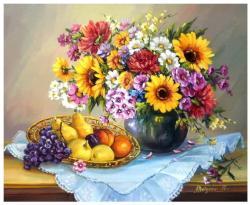 Picturi cu flori POEMUL TOAMNEI