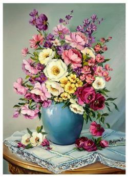 Picturi cu flori POEZIA FLORILOR