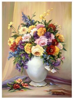 Picturi cu flori POEZIE IN CULORI