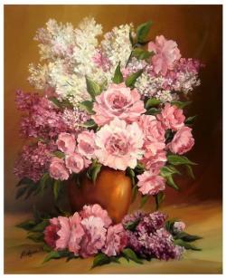 Picturi cu flori PRIMAVARA IN DAR