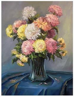 Picturi cu flori REGINELE TOAMNEI
