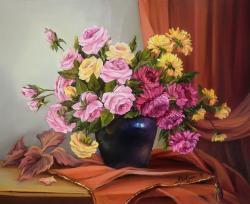 Picturi cu flori ROMANTA DE TOAMNA