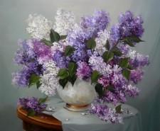 Picturi cu flori Romanta in lila 2