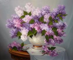 Picturi cu flori ROMANTA LILA