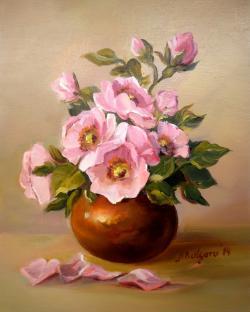 Picturi cu flori ROZE DE  PRIMAVARA