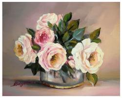 Picturi cu flori ROZE DIAAFANE