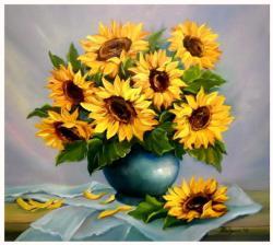 Picturi cu flori Surorile soarelui