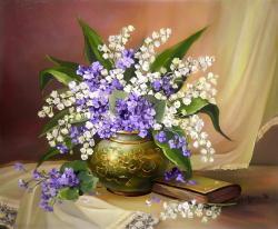 Picturi cu flori TOPORASI CU LACRAMIOARE