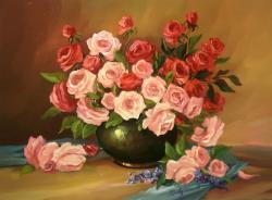 Picturi cu flori TRANDAFIRI  ANIVERSARI
