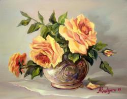 Picturi cu flori TRANDAFIRI GALBENI(2)