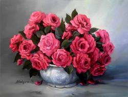 Picturi cu flori TRANDAFIRI IMPERIALI 2