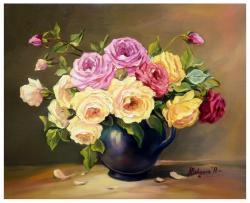 Picturi cu flori UN BUCHET FESTIV