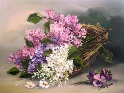 Picturi cu flori  UN MARTISOR CU LILIAC