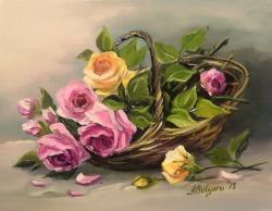 Picturi cu flori UN MARTISOR CU TRANDAFIRI