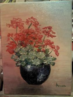 Picturi cu flori Muscate vas