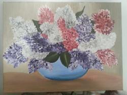 Picturi cu flori Flori de malin
