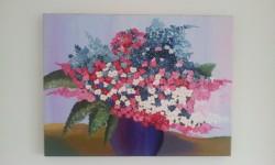 Picturi cu flori Vaza cu floricele