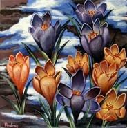 Picturi cu flori Branduse de primavara