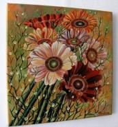 Picturi cu flori Flori gerbera